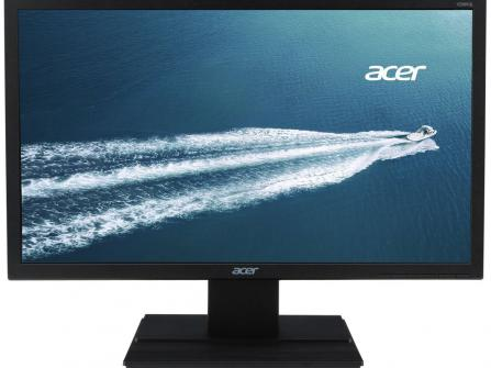 "Монитор LED Acer 19.5"", Wide, HD, VGA, Черен, V206HQLAB"